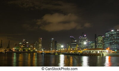 Port of Singapore at Night 1080p