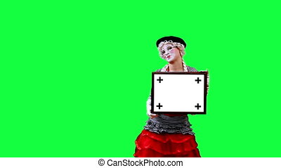 Mime with a sign - Mime shows a banner. This clip is...