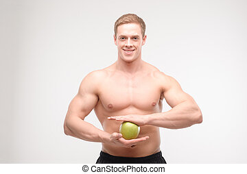 Athlete with an apple