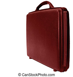 Case on white background - Red business case on a white...