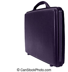 Case on white background - Purple business case on a white...
