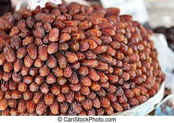 Palma, fruta, consumido, Mes, Ramadan, musulmanes