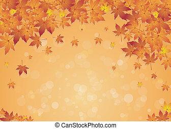 Autumn Text Sign Background - Vector Illustration Of Autumn...