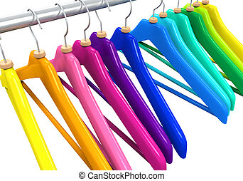 Colorful Clothes Hangers