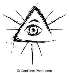 All seeing eye - Eye of Providence symbol created in grunge...