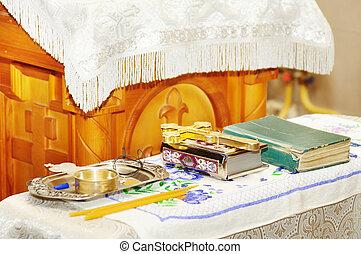 Interior of church in Russia
