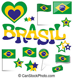 collection - Brasil icons and marketing accessories -...