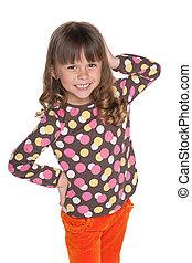 Happy fashion little girl