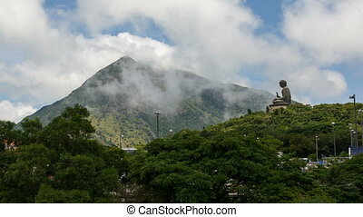 Time Lapse of Moving Clouds 1080p - NGONG PING, HONG KONG -...