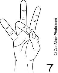 Sign language,Number 7