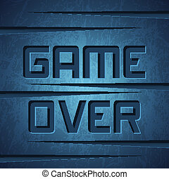 Vector Message: Game Over on Dark Cracked Background