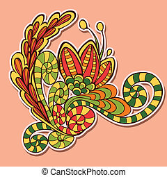 Decorative element - Vector floral decorative element on...