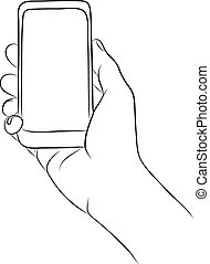 Hand Holding the Smart Phone