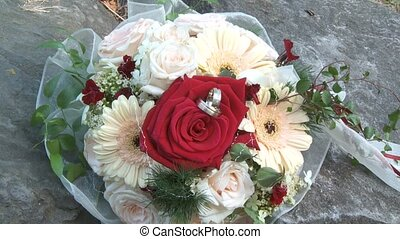 Wedding Bouquet - Wedding Couple