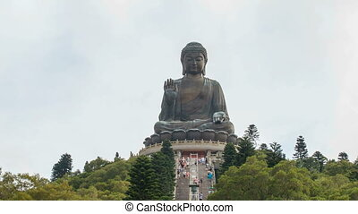 Time Lapse at Tian Tan Buddha 1080p - NGONG PING, HONG KONG...