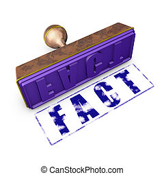 fact - wooden seal with gold trim and imprint-fact