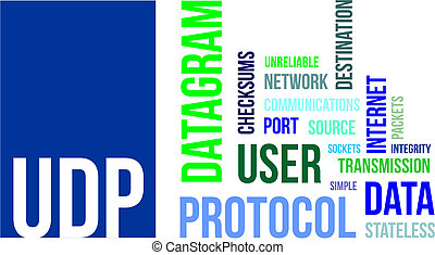 word cloud - udp - A word cloud of user datagram protocol...