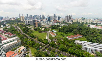 Singapore Cityscape Timelapse 1080p - TIONG BAHRU, SINGAPORE...