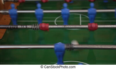 foosball - playing with foosball table game