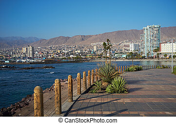 Antofagasta - The City of Antofagasta on the coast of the...