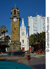 Clock Tower - Historic Clock Tower in Armas Square in the...