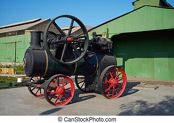 Steam Engine - Historic steam engine of the Ferrocarril de...