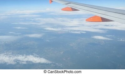 aerial view over Tuscany - air travel over tuscany, Italy