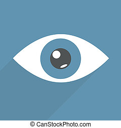 eye - minimalistic illustration of an eye, eps10 vector