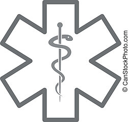 Star of Life - minimalistic illustration of a star of life,...