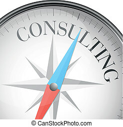 compass consulting - detailed illustration of a compass with...