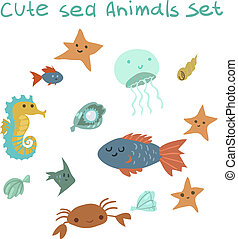 The vector pattern with ocean stuff.