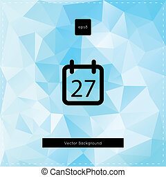 Abstract vector light blue polygonal background - With...