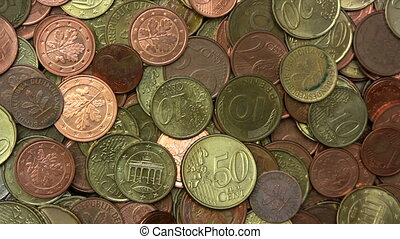 Coins Background - Zoom Out - Canon HV30. HD 16:9 1920 x...