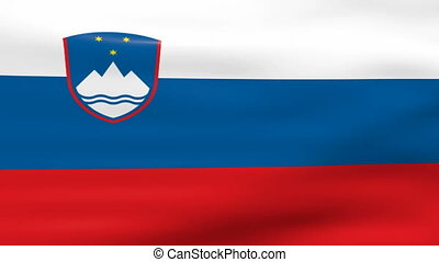 Waving Slovenia Flag, ready for seamless loop