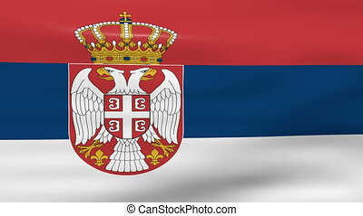 Waving Serbia Flag, ready for seamless loop