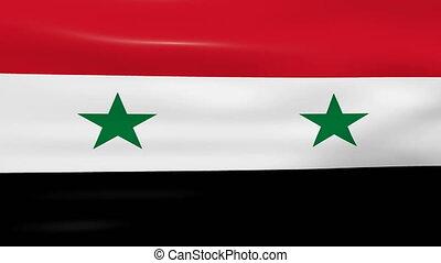 Waving Syria Flag