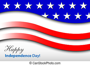 happy independence day - card