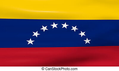 Waving Venezuela Flag, ready for seamless loop.