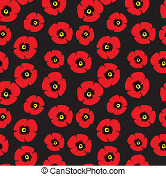 Seamless pattern of red poppies - Illustration of seamless...