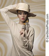 mujer, aristocrático, Moda, estilo