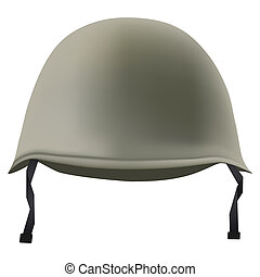 Military classic helmet. Isolated on white background. Bitmap copy.