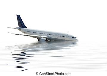 Air crash - Aircraft crashing into the water