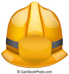Gold fireman helmet Isolated on white background Bitmap copy...
