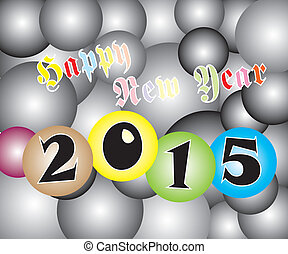 Happy New Year 2015 Light Two Tone - Vector of Happy New...