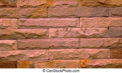 Beauty of a brick wall in house. Macro video shift motion
