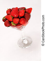 strawberries in vase - Photographing of fresh fruit in...