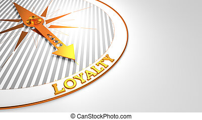 Loyalty on White with Golden Compass.