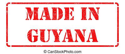 borracha, feito, Guiana, vermelho, selo
