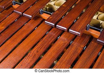 Marimba, teclas