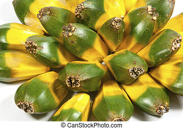 Bright Green and Yellow Fruit of the Pandanas Palm - bright...